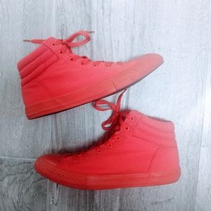 Converse Red Monochrome High Top Sneakers 6